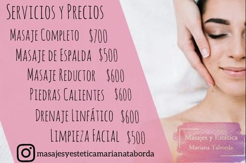 masajes descontracturantes y relajantes. masaje reductor