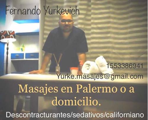masajes en palermo y a domicilio, descontracturantes!!!