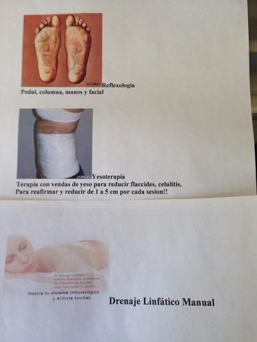masajes, limpieza de cutis, drenaje, reflexologia