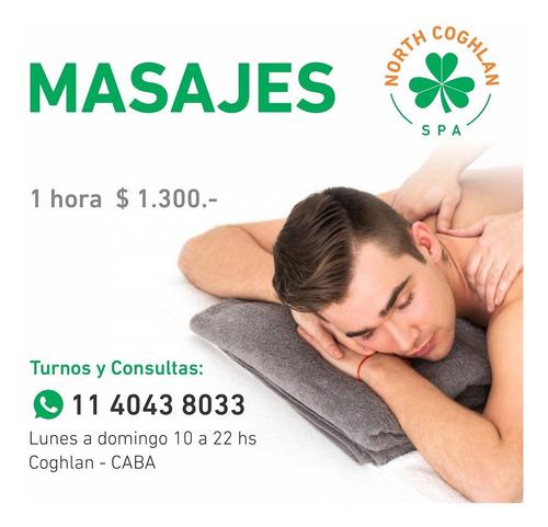 masajes. masajista masculino.