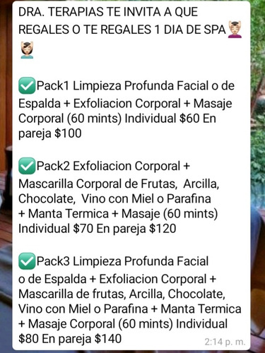 masajes occidentales, orientales y fisioterapia