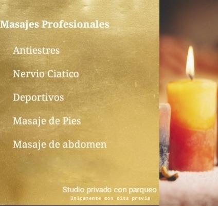 masajes profesionales atencion personal