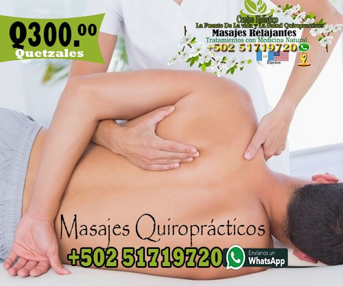masajes quiroprácticos y de relajación whatsapp 51719720