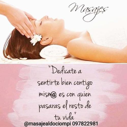 masajes relajantes , descontracturantes