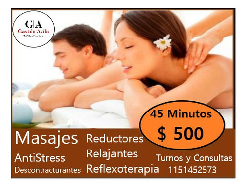 masajes relajantes descontracturantes reductores.