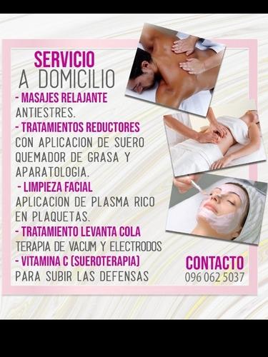 masajes relajantes y  tratamientos reductores