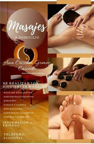 masajes terapeuticos a domicilio