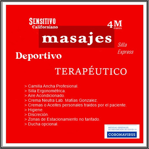 masajes terapéuticos descontracturantes - técnico utu - msp