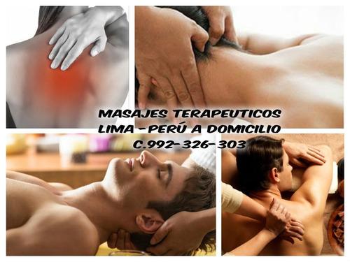 masajes terapeuticos domicilio miraflores damas y caballeros