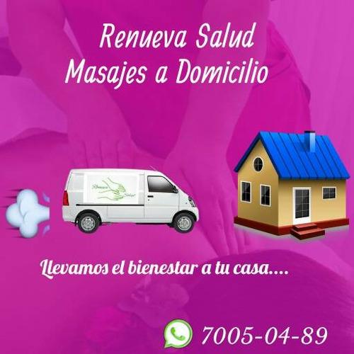 masajes y terapias con servicio a domicilio