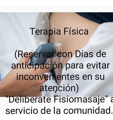 masajes/terapia física  a domicilio( fisioterapeutas ).