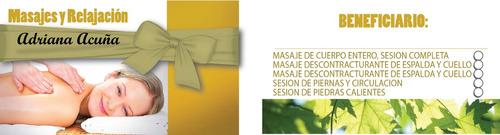 masajista adriana z.sur lanus centro. kinesio - giftcards
