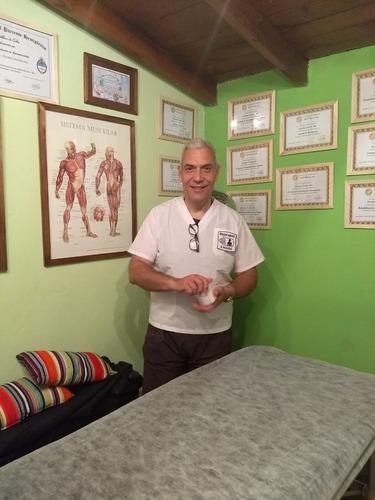 masajista atencion en gabinete y domicilio.dictado de cursos