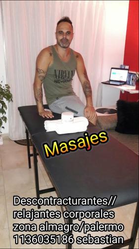 masajista masculino relajantes descontrac. almagro/palermo