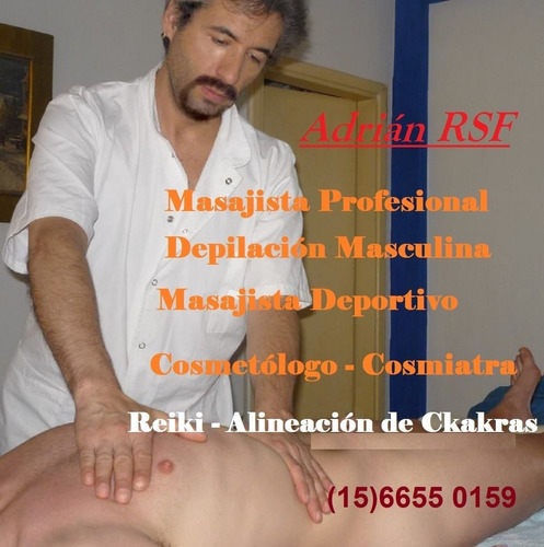 masajista profesional  depilacion cosmiatria zona norte