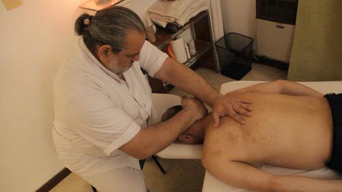 masajista shiatsu quiropractico fisioterapia rehabilitacion