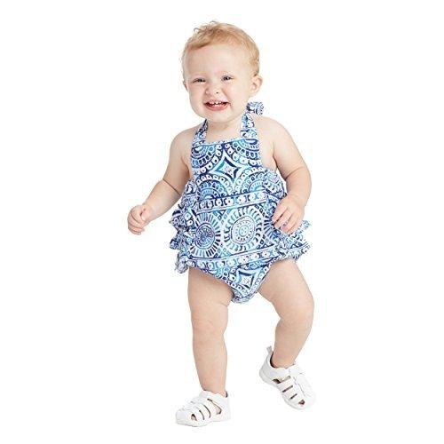 masala baby baby toddler girls zoe ruffled one piece, java n