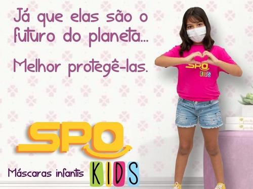 másc infantil 5 cxs c/50 uni, tripla, clip nasal e elastico