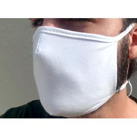 Máscara 100% Algodão Camada Dupla Extra De Amarrar Veste Bem