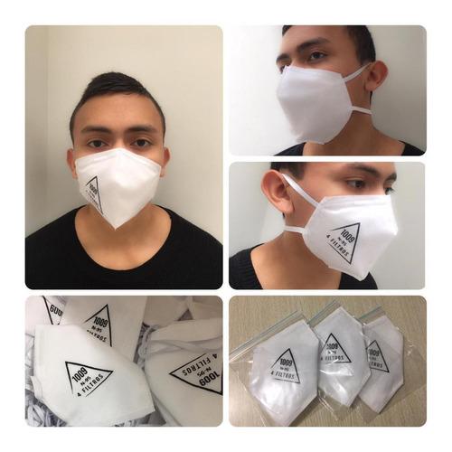 máscara 4 filtros termosellados muy cómodos y economicos