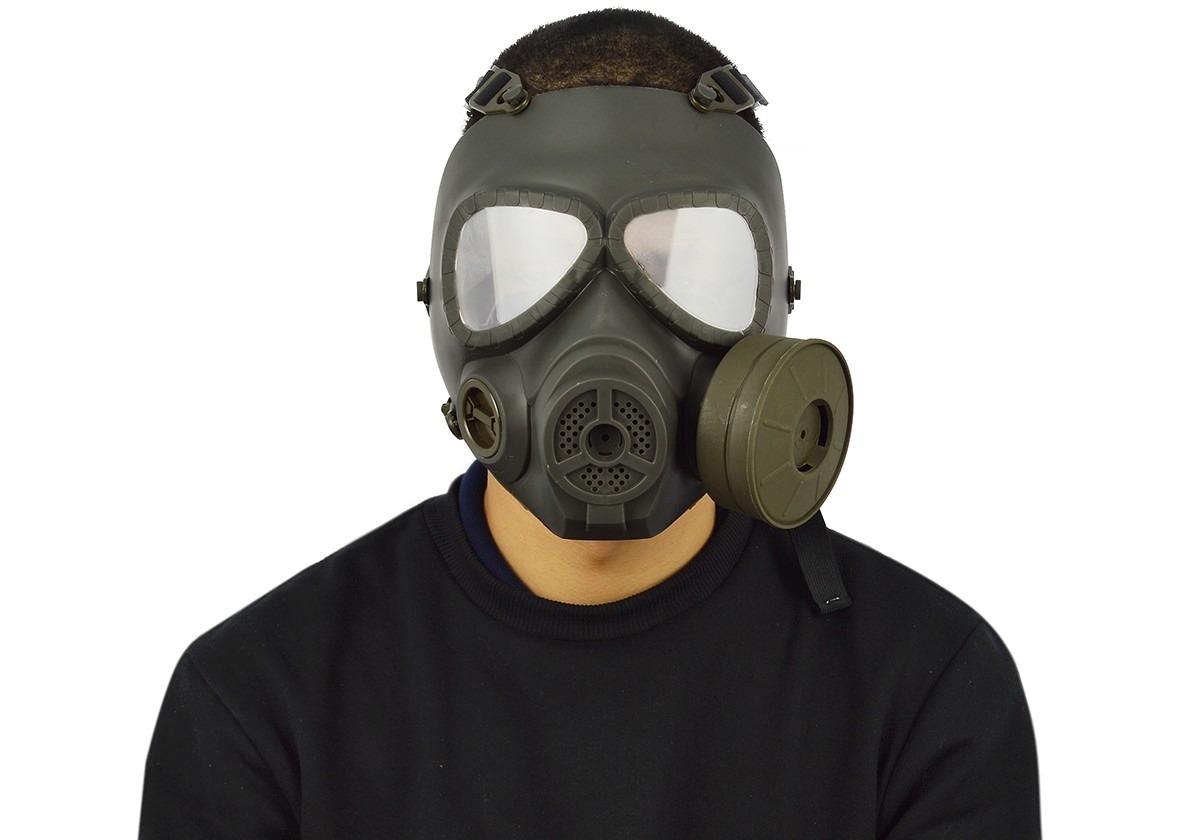 bbaff837b558d Máscara Airsoft Fma Modelo Anti Gás Verde - R  150,00 em Mercado Livre