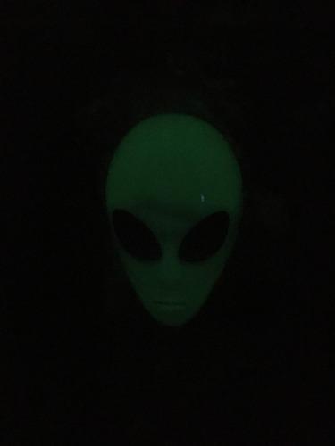 mascara alien glow halloween brilla en la obscuridad ovni