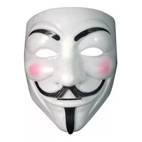 Mascara Anonymous V De Venganza Plastico Rigido Halloween