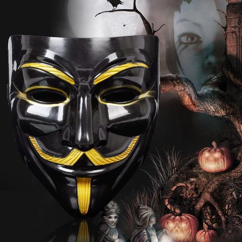 mascara anonymous v de vingança mascara vendetta preta