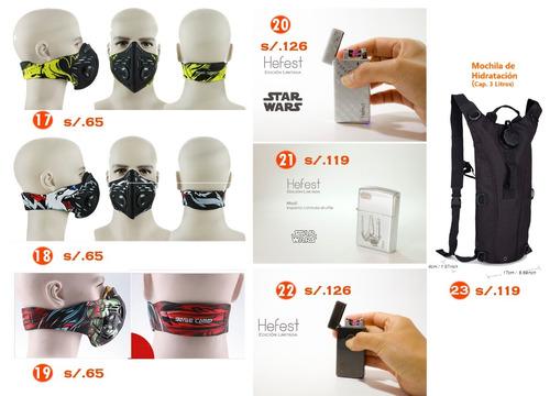 mascara anti-humo para bicicletas motos trecking calavera