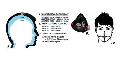 mascara anti polvo entrenamiento elevacion training mask 2.0