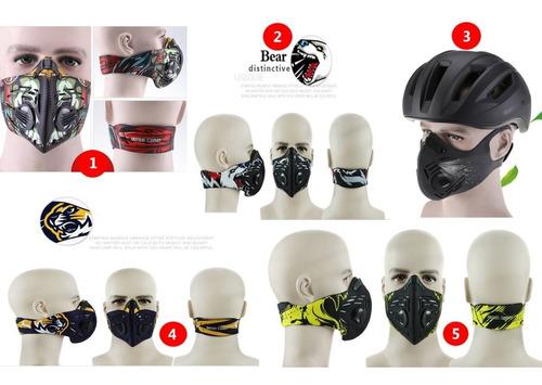 mascara anti smoke humo filtro cortaviento deportes trabajos