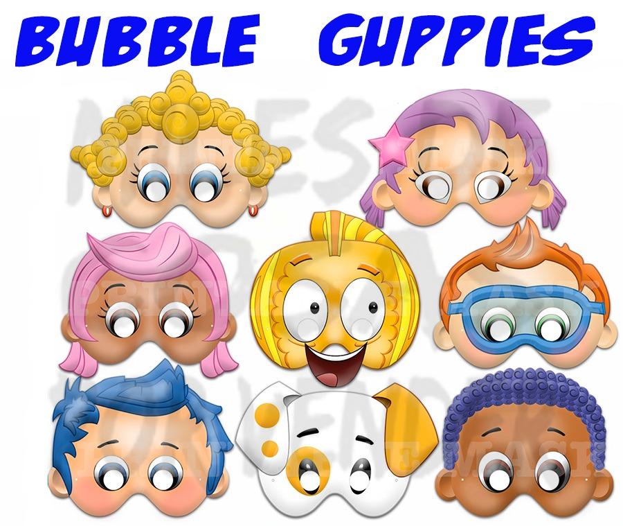Mascara Antifaz De Bubble Guppies Oona Rosa Goby Molly Crabs