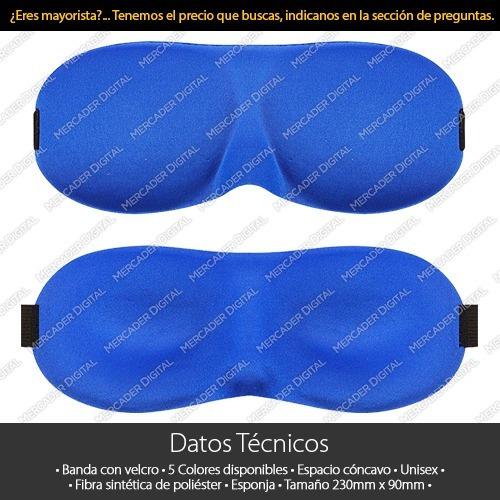 máscara antifaz de dormir nocturna para descansar ojos 3d