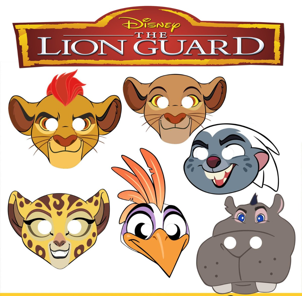 Mascara Antifaz La Guarida Del Leon The Lion Guard Kion