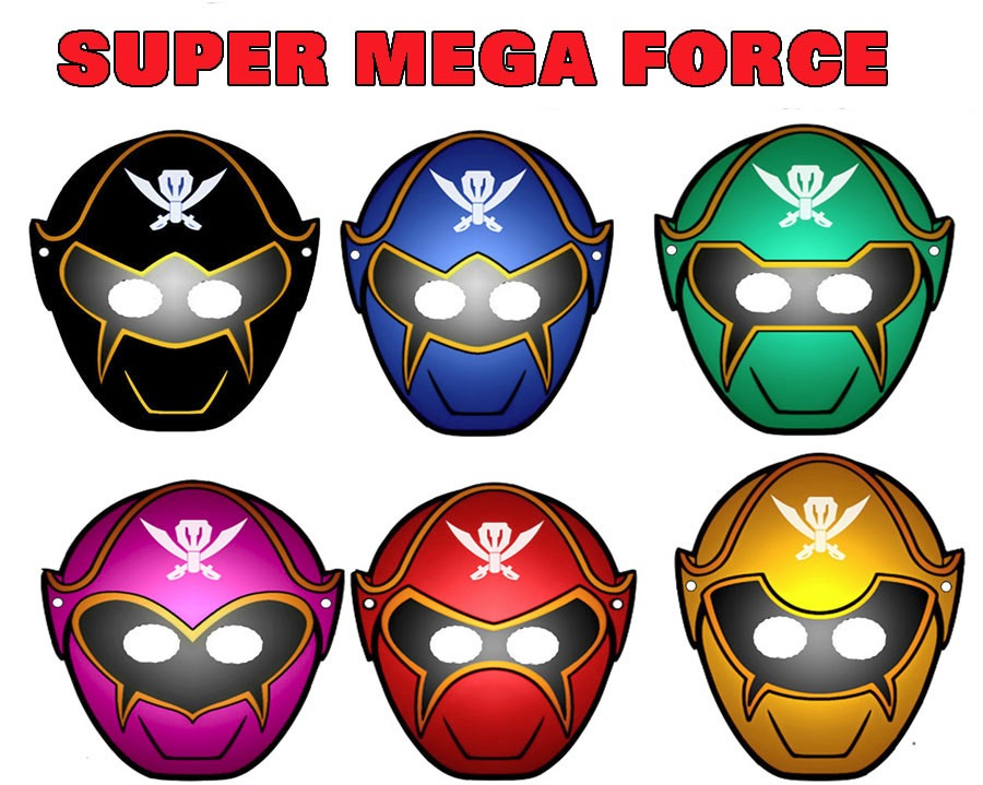 Mascara Power Rangers Para Imprimir