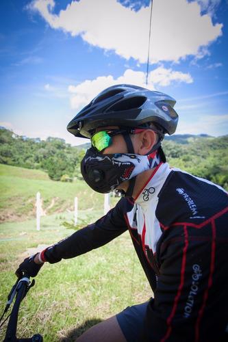 mascara antipolucion carbono activo para ciclismo en ciudad