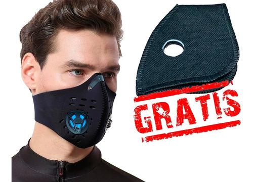 máscara antipolución moto / ciclista lleva filtro gratis- as