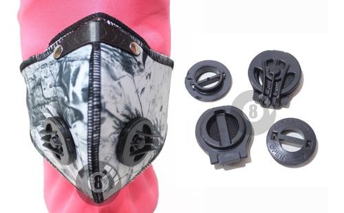 máscara antipolución tapabocas con filtros moto bicicleta