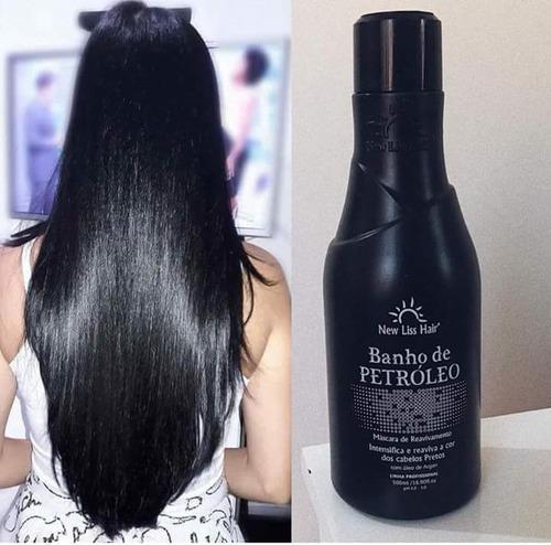 mascara ativador de preto banho de petroleo new liss hair