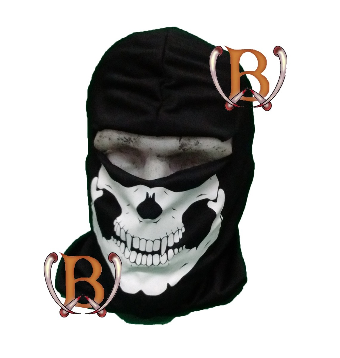 mascara balaclava calavera skull poliester navy seals moto 186