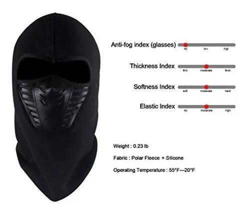 máscara balaclava térmica polar ciclismo moto pasamontaña
