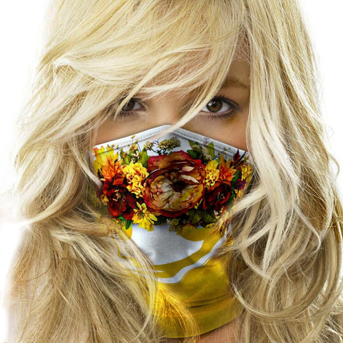 mascara bandana floral swag streetwear moto ciclismo metal 3