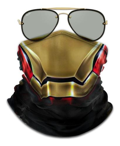 mascara bandana iron man homem de ferro ciclismo metal 001