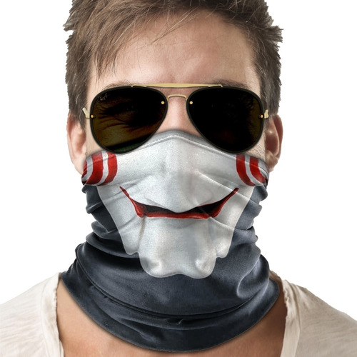 mascara bandana jogos mortais saw moto ciclismo metal 001b