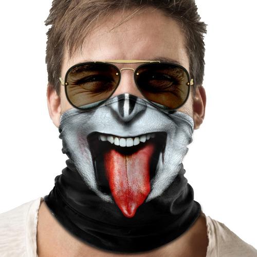 mascara bandana kiss gene simmons moto ciclismo metal 001