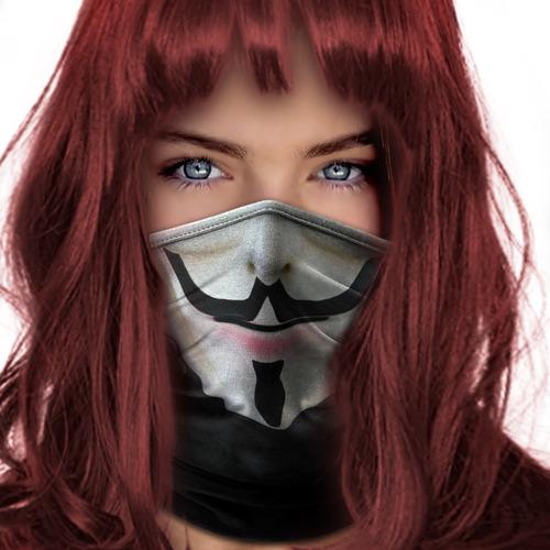 mascara bandana v de vingança moto ciclismo metal 001b