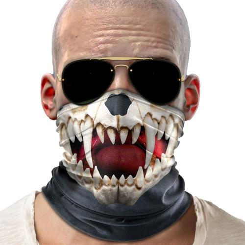 mascara bandana vampiro caveira moto ciclismo metal 001
