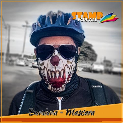 mascara bandana vampiro caveira moto ciclismo metal 002