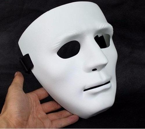 mascara blanca negra sin expresión teatro halloween mimo