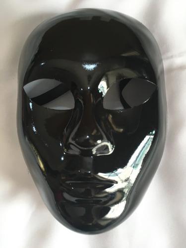 mascara blanca o negra halloween terror teatro